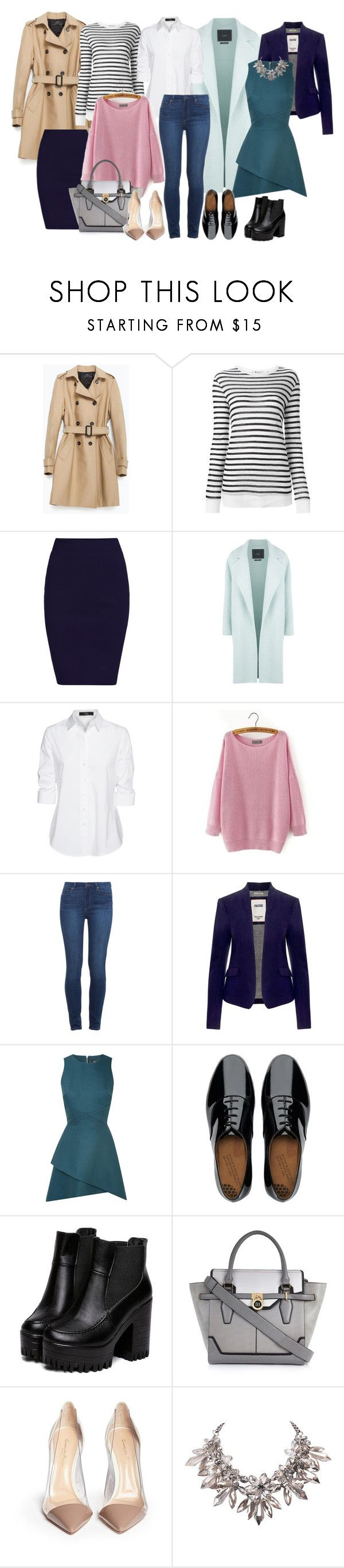 """капсульный гардероб на осень"" by vajnaluba ❤ liked on Polyvore featuring Zara, Alexander Wang, MaxMara, Steffen Schraut, Paige Denim, Tommy Hilfiger, Rebson, FitFlop, River Island and Gianvito Rossi"