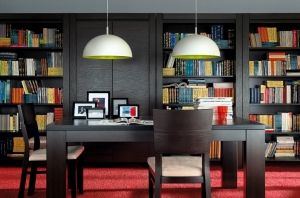 AUGUST BRW Home Office (Library). August BRW modular system is characterized by very simple and geometric form. Polish BRW Modern Furniture Store in London, United Kingdom #furniture #polish #brw #homeoffice