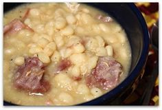 Crock Pot Northern Beans & Ham - I've never been a fan of bean soup, but this was pretty good I'll have to admit. My hubby even liked it. It was good to finally use up our leftover Christmas ham.