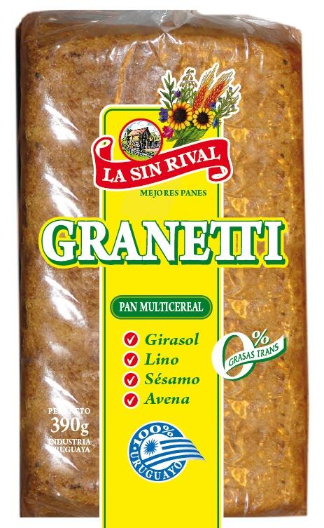 Actualización de diseño de pan Grantetti 390g