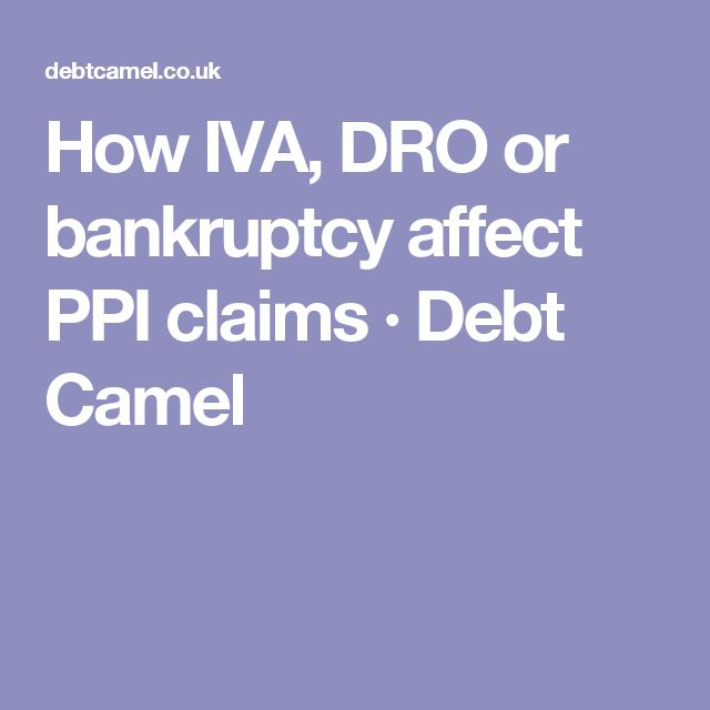 66 best ppi claims images on pinterest advice boxes and cases how iva dro or bankruptcy affect ppi claims solutioingenieria Choice Image