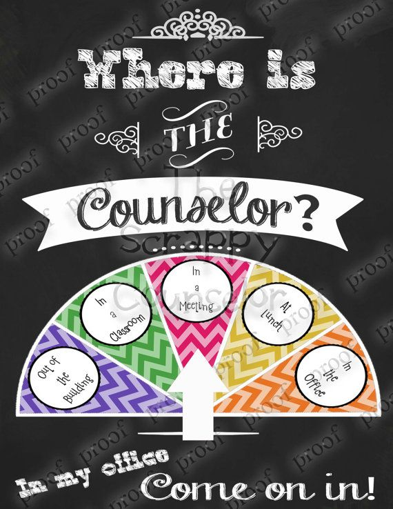 School Counselor Door Sign Quot Where Is The Counselor