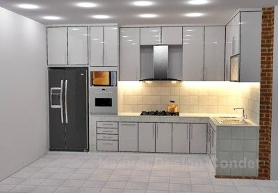 Kitchen set apartemen modern mewah rooms pinterest for Kitchen set mewah