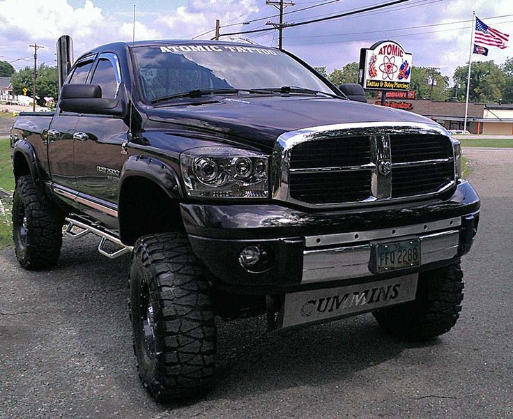 black lifted Dodge Cummins diesel