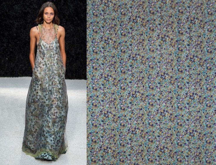 Printed silk veil available now here:  https://www.malagoli.ro/en/product/mv-35 Get inspired by this dress and create you own with #MalagoliFabrics silk veil.  #SilkVeil #Silk #Fabrics #Prints