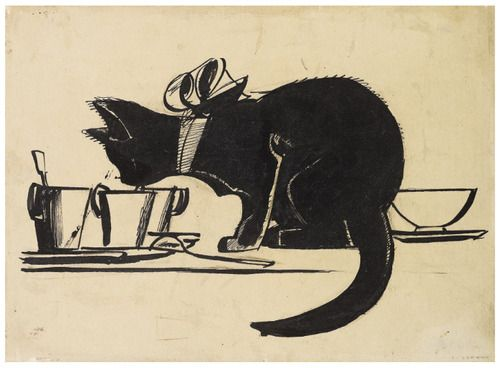"""* Studio per """"La casa della nonna"""" 1924 china su carta applicata su tela Mario Sironi (1885-1961)"""