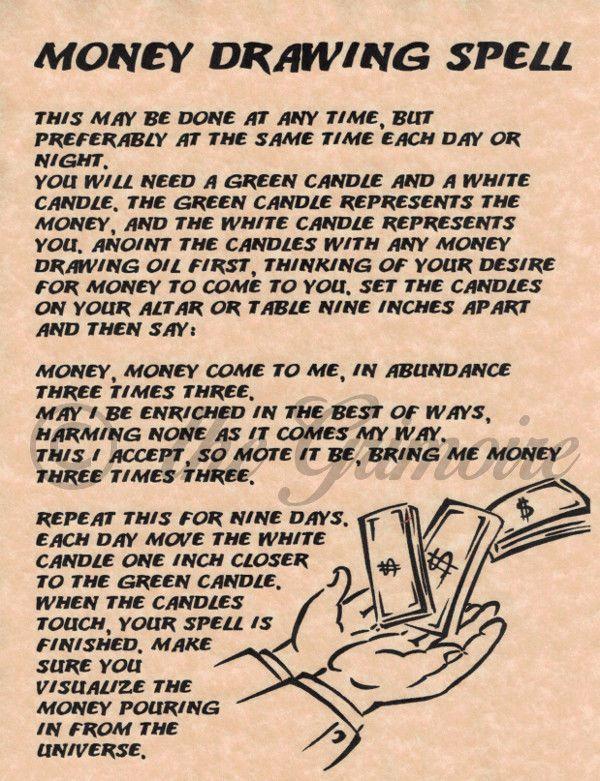 Magick Spells:  Money Drawing #Spell.