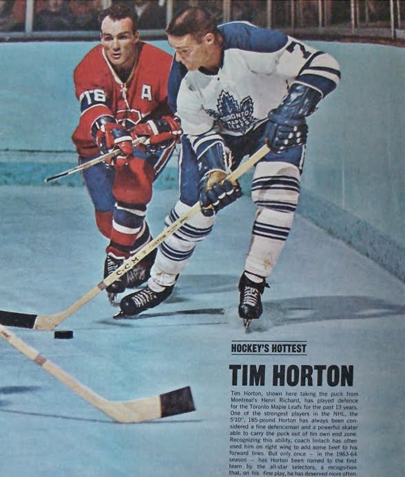 Tim Horton and Henri Richard | Toronto Maple Leafs | Montreal Canadiens | NHL | Hockey