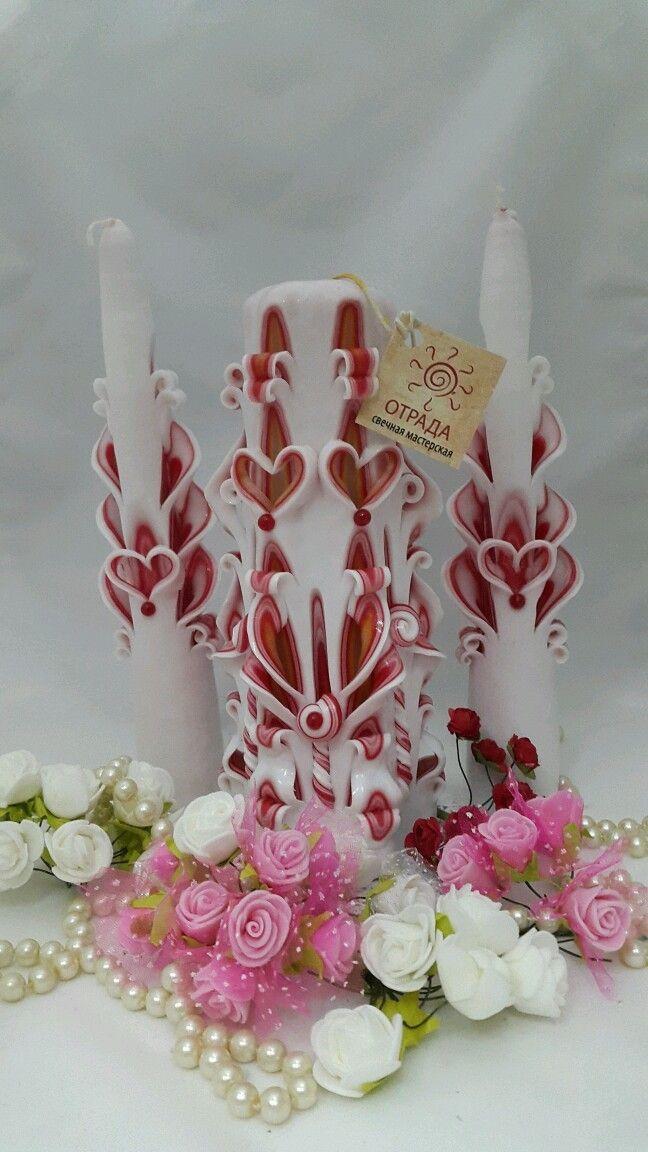Свадебный очаг. Резные свечи.  Одним из важнейших обрядов на свадьбе является…