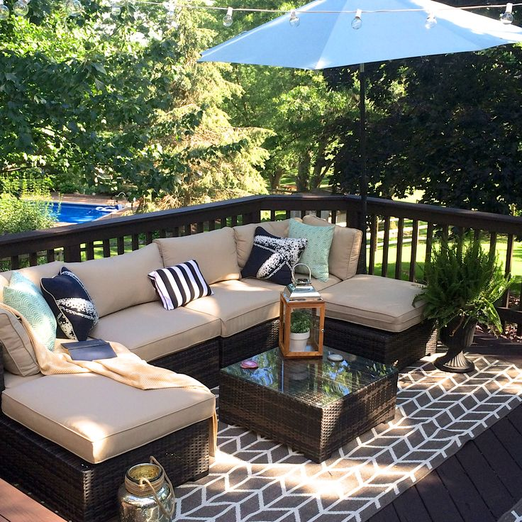Best 25 deck makeover ideas on pinterest outdoor for Outdoor living spaces on a budget