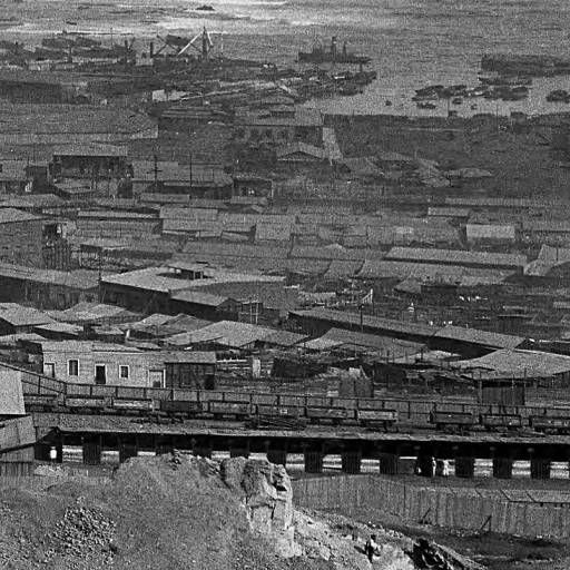 Antofagasta (Chile), panoramic view of port town and shoreline :: AGSL Digital Photo Archive - South America