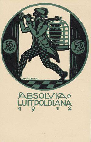Absolvia Luitpoldiana (Luitpold-Gymnasium) München 1912