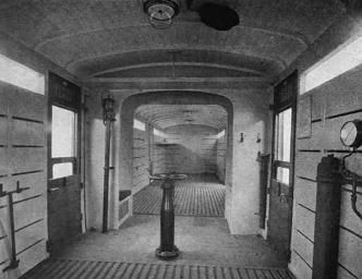 Interior of a guards van on the London and North Western Railway