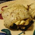 Spinach-stuffed Flounder - an amazing way to make fish. Add garlic, more mushrooms, salt, pepper, and cajun seasoning to the fish! YUM YUM HEALTHY TUM TUM!
