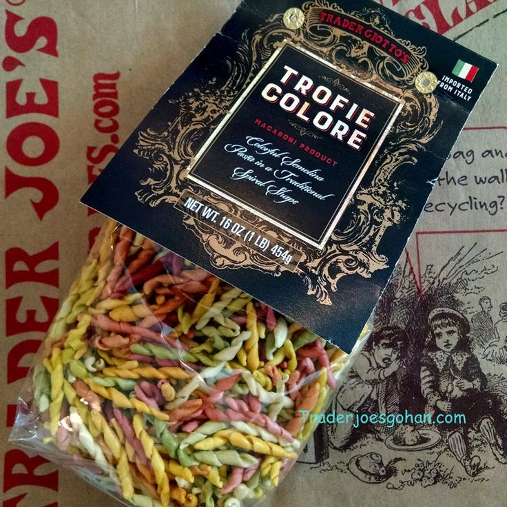 Trader Joe's Trofie Colore Spiral Macaroni 16oz $1.99 トレーダージョーズ カラフルマカロニ トロフィエ  #トレーダージョーズ #トロフィエ #マカロニ #traderjoes #macaroni #trofie
