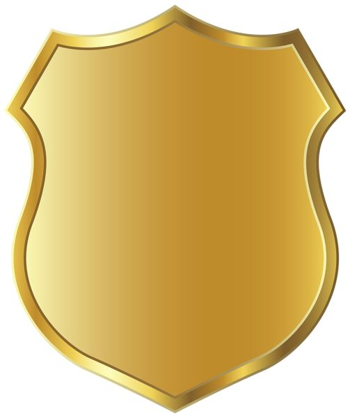 Golden Badge Template Clipart PNG Picture