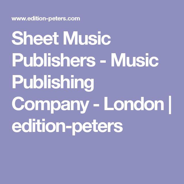 Sheet Music Publishers - Music Publishing Company - London | edition-peters