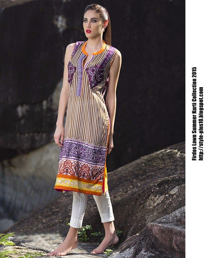 15-EXC-K3A From FIRDOUS Carnival Kurti Collection 2015