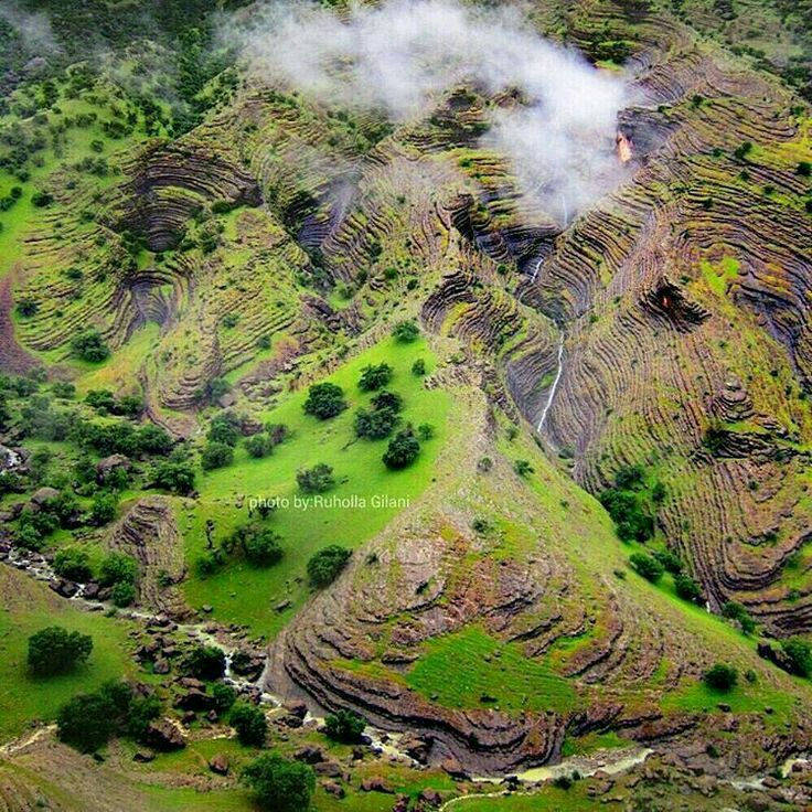ایران من زیباست  طبیعت ایلام دره ی شهر️