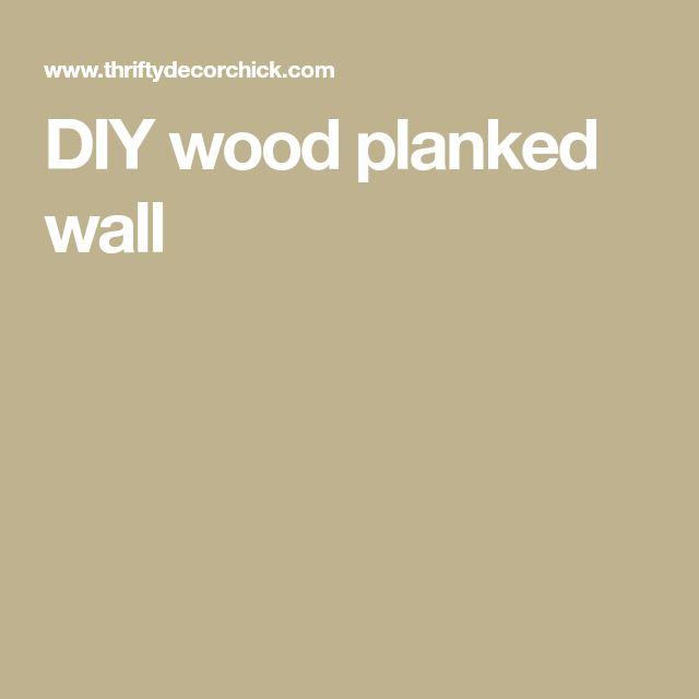 DIY wood planked wall