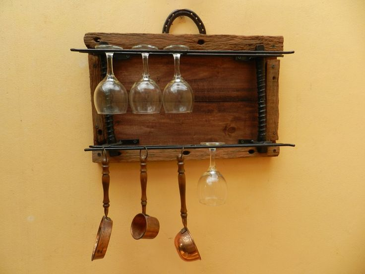 Como hacer un copero de madera colgante buscar con - Muebles para vinoteca ...
