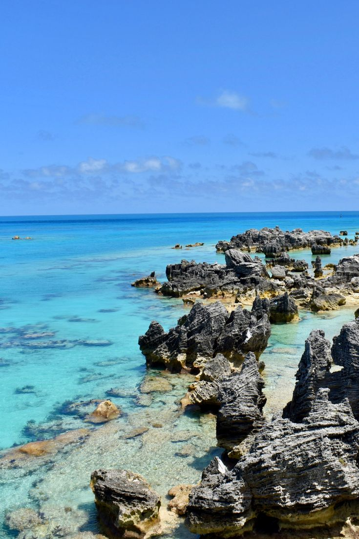 Printable Wall Art // Printable Photography // Digital Download // Tropical Island Photography// Housewarming gifts// Beach and Island Decor. This photo was taken at Tobacco Bay in Bermuda, overlooking the dramatic limestone rock formations and turquoise ocean off the island's east coast. Fort St. Catherine, constructed in 1614, can be seen in the far right. #homedecor #wallart