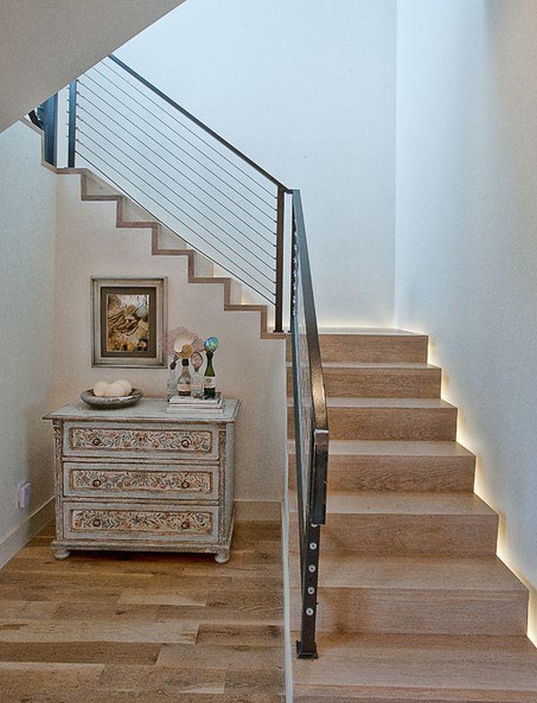 Ideen Treppenbeleuchtung innen hinter treppe