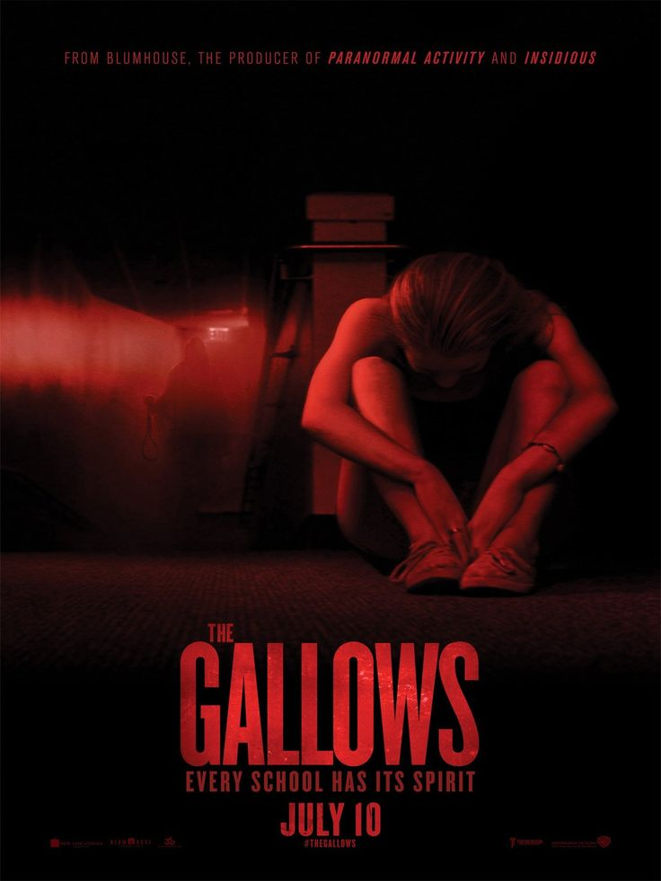 The Gallows - This is sooooo creepy! Very hard for me to recommend these movies - they just aren't my kind of show. Maybe fun for kids on summer break, but I have a hard time seeing adults enjoying these. Sorry. Opens July 10th.