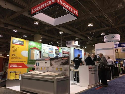 """ISOMAT, in cooperation with Akrobond, its authorized dealer in Canada, participated in the International Exhibition """"Construct Canada"""", which took place at the Metro Toronto Convention Center, between November 30th and December 2nd 2016."""