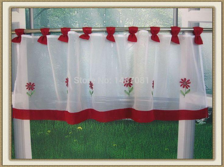 Las 25 mejores ideas sobre cortinas cortas en pinterest y - Ver cortinas para cocina ...