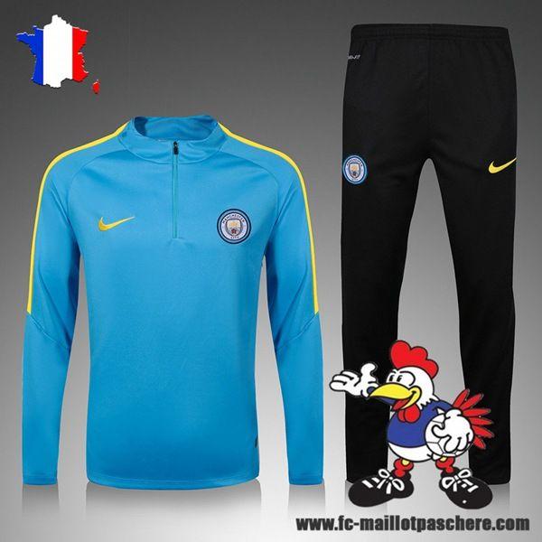Super Cute Survetement De Foot Manchester City Enfant Kits Bleu 2016-17 Offre Pas Cher