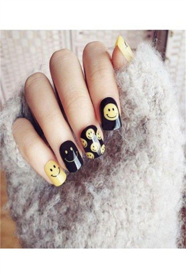 30 Funny Emoji Nail Art Designs Ideas Fashonails Nail Art For Girls Nail Art Fashion Nails