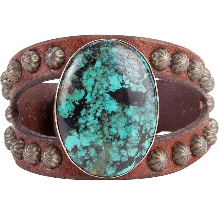 Shop Women's The Rowdy Cowgirl Long Oval Turquoise Split Bracelet