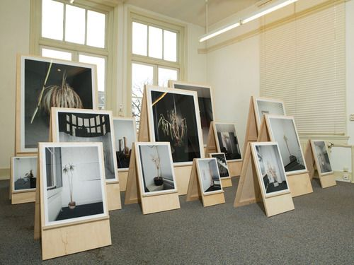 Great wooden easels for displaying art. Jong Meeters — Think Of Me