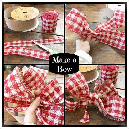 christmas bow you can make yourself step by step tutorial ribbon pinterest the ribbon. Black Bedroom Furniture Sets. Home Design Ideas