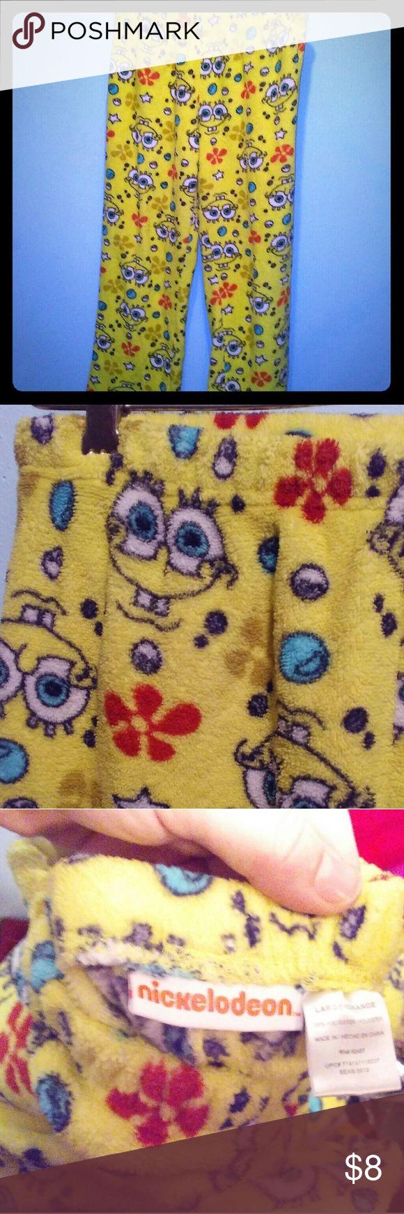 Adult size spongebob pajama pants! Very fuzzy warm pajama bottoms??? Nickelodeon Intimates & Sleepwear Pajamas