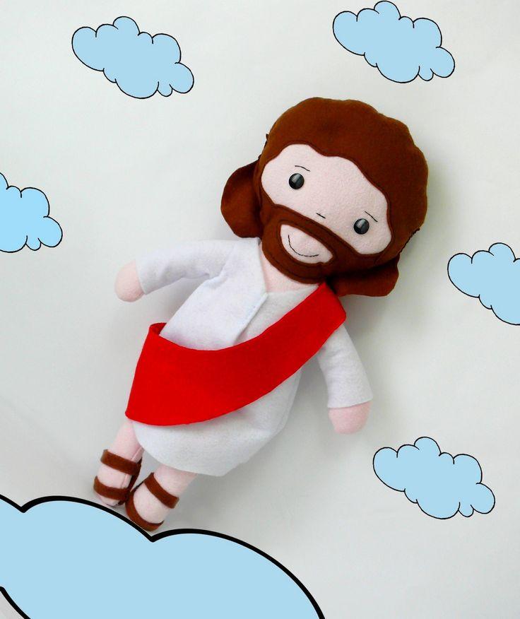stoff puppe handgemacht - Jesus von Nazareth