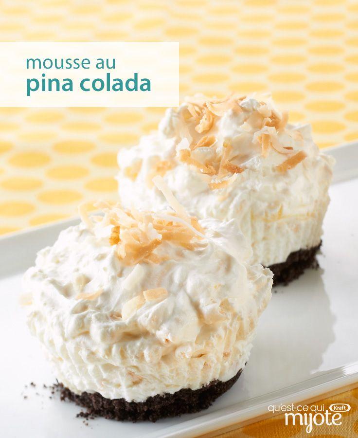 Recevoir en cuisinant même le dessert n'aura jamais été aussi facile. Préparez ce petit délice inspiré du fameux cocktail en seulement 15 min. Cliquez pour obtenir la #recette de notre Mousse au pina colada.