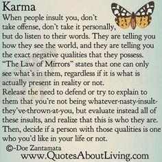 karma sayings about animals   karma, quotes, sayings, long, life, wisdom, mirror   Inspirational ...