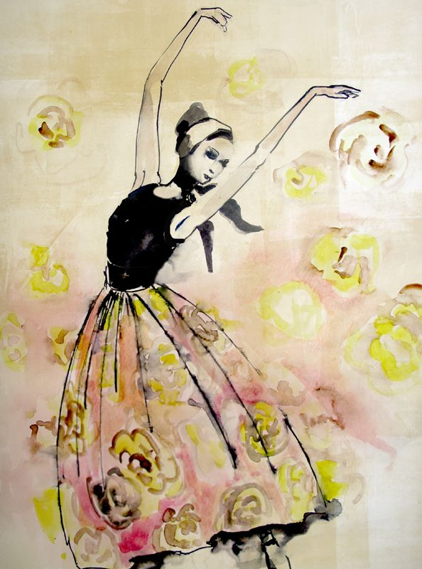 #barbaravontannenberg #newdivision #illustration #watercolour #gouache #loose #textured #dancer