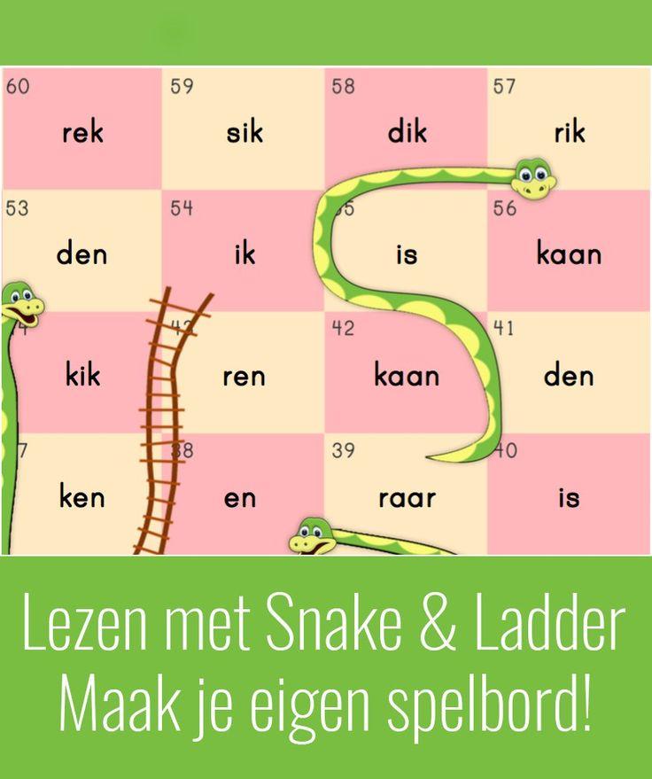 Laat kinderen uit groep 3 spelenderwijs de woorden lezen door ze het Snake & Ladder spel te laten spelen. Dit is toch veel leuker dan de woorden flitsen?