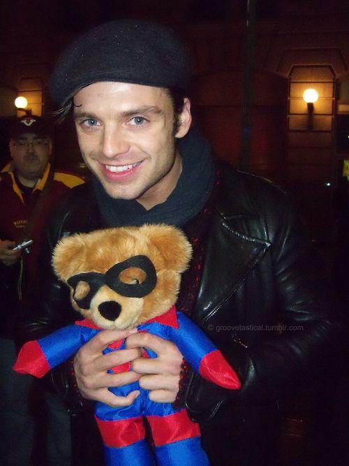 "Bonus! Bucky Barnes² | Sebastian Stan Explains ""Captain America: The Winter Soldier"" With Teddy Bears"