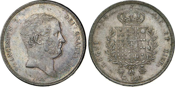 NumisBids: Numismatica Varesi s.a.s. Auction 65, Lot 505 : NAPOLI - FRANCESCO I (1825-1830) 120 Grana o Piastra 1825. P.R: 6...