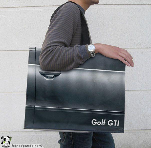 Volkswagen Golf GTI Bag- Advertising Agency: Agence V, Paris, France