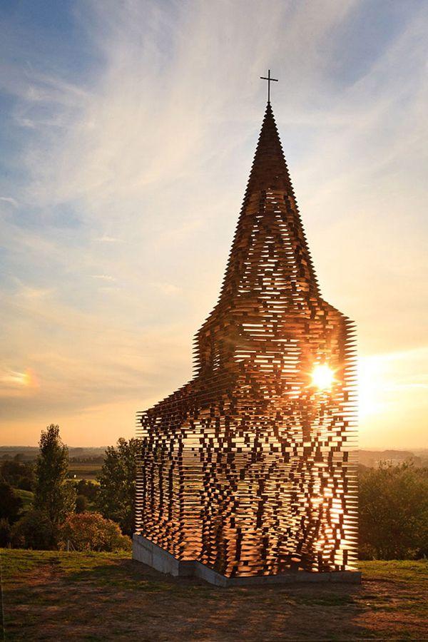 Transparent church in Borgloon, Limburg