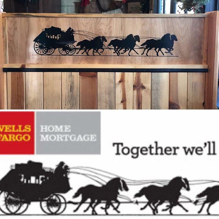 The restaurant near me uses a Wells Fargo logo for decoration.