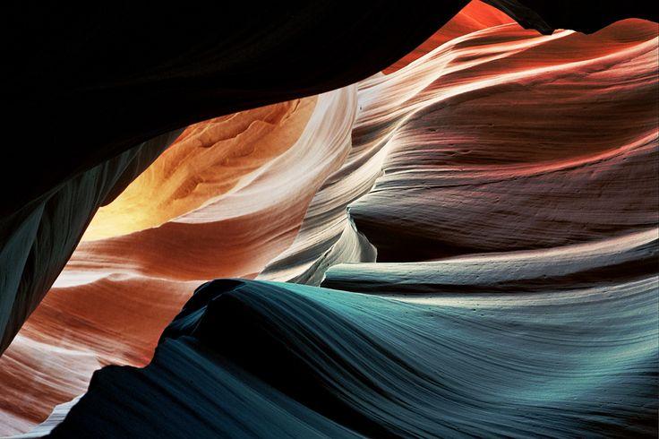"Film Photo By: Virgilio Tzaj ""Antelope Canyon, Navajo, Page, Arizona Nikon FM2, Kodak Porta 400 """