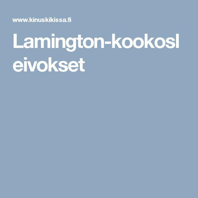 Lamington-kookosleivokset