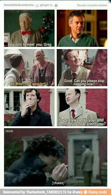 BBC Sherlock Holmes, Mycroft Holmes, Mystrade, Johnlock. A very Holmes Christmas.