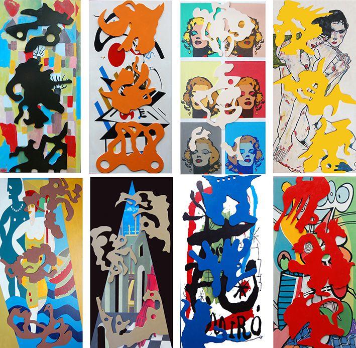"""""""D'après"""" legno dipinto cm, 180x170, 2010"""